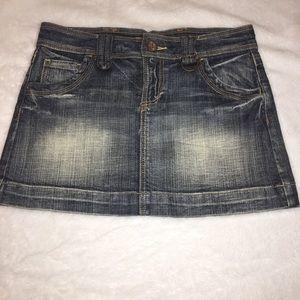 See Thru Soul Mini Jean Denim Skirt Size 26